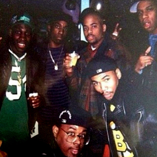 dame dash with big l jay z chubby chubbb