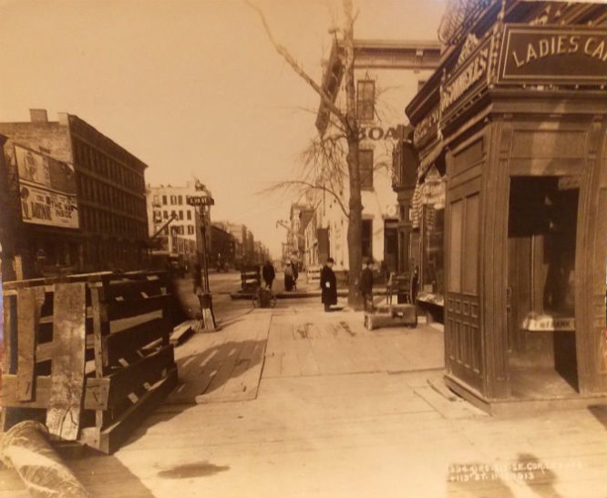 1913 PHOTO E 119 & Lexington Harlem SUBWAY NYC New York City
