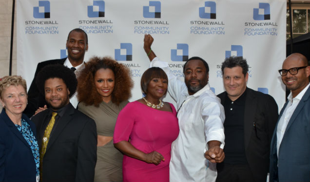 Top- Jason Collins L to R- Marita Bagley Jarrett Lucas Janet Mock Bevy Smith Lee Daniels Isaac Mizrahi Emil Wilberkin_Courtesy Stonewall Community Foundation