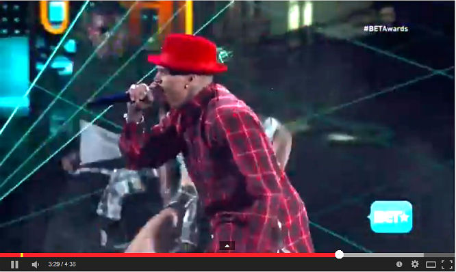 chris brown on bet 2014