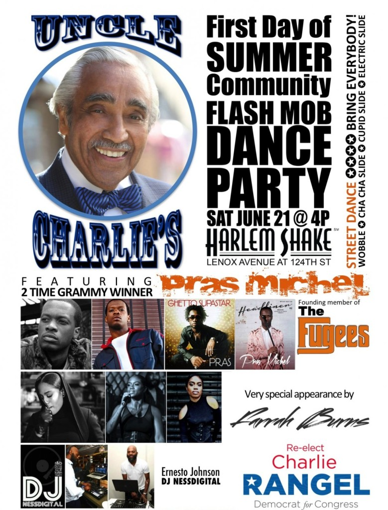 You're Invited To Uncle Charlie's Communty Flash Mob Dance Party In Harlem