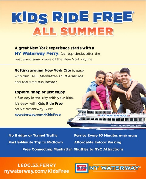 kids ride free all summer 2014