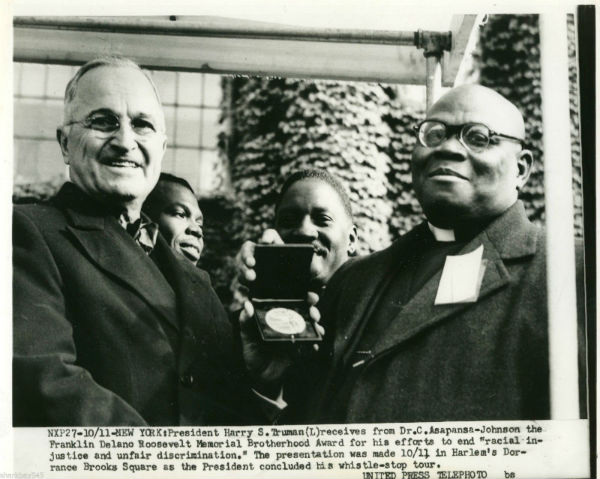 truman in harlem with preacher