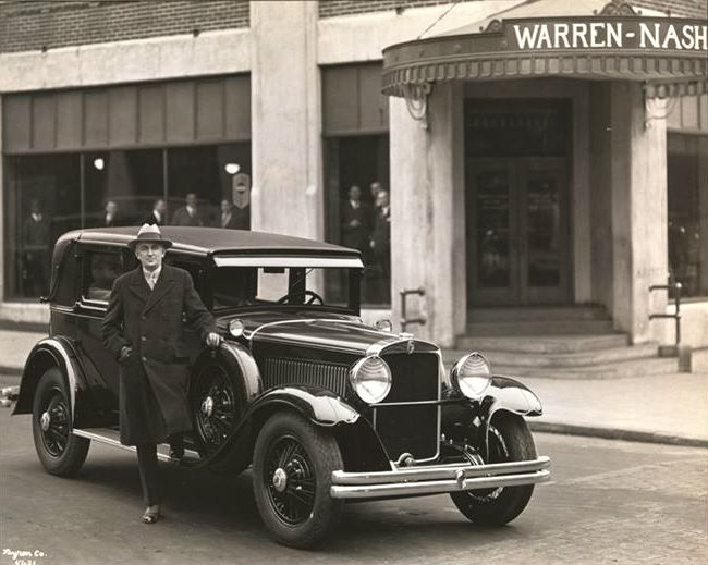 warren nash car showroom