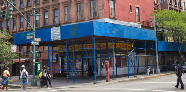 harlem building eye sore in community
