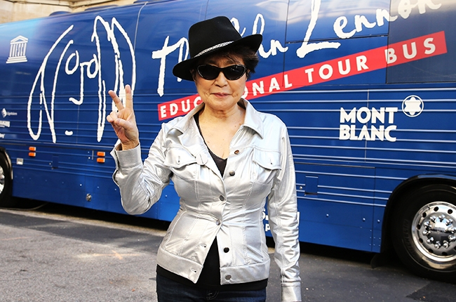 yoko-ono-john-lennon-educational-tour-bus-2014-billboard-650