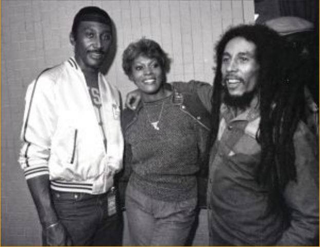 Frankie Crocker, Dione Warwick and Bob Marley