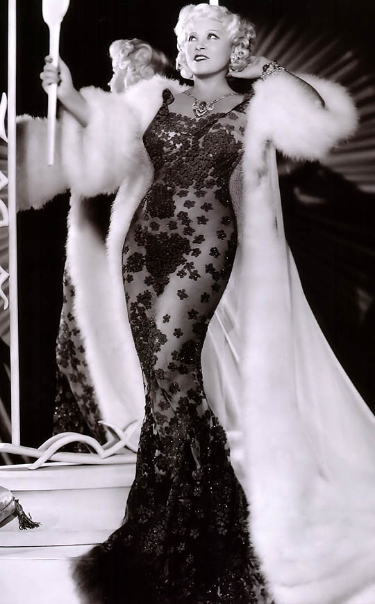 Mae-West-black-beaded-gown