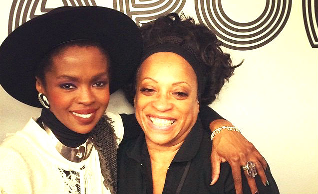 Lauryn Hill & Kathy Jordan Sharpton backstage Apollo (1)