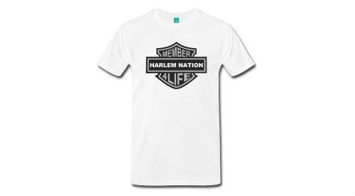 member of harlem nation 4 life t shirt logo