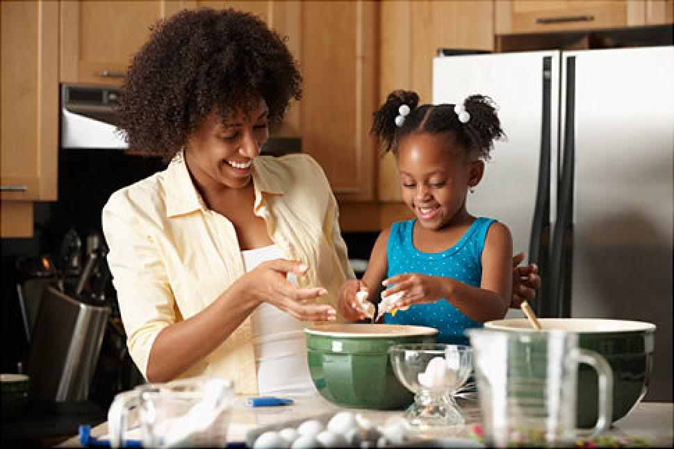 Mother daughter Cooking-jpg