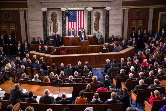 President Barack Obama delivers the State of the Union address in the House Chamber at the U.S. Capitol in Washington, D.C., Jan. 28, 2014.