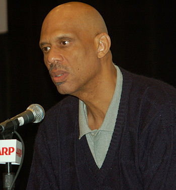 English: Kareem Abdul-Jabbar attending the AAR...