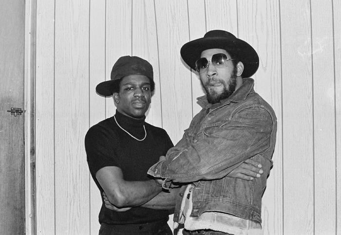 Tony Tone and Kool Herc Backstage at T-Connection 1979_ Photography by Joe Conzo
