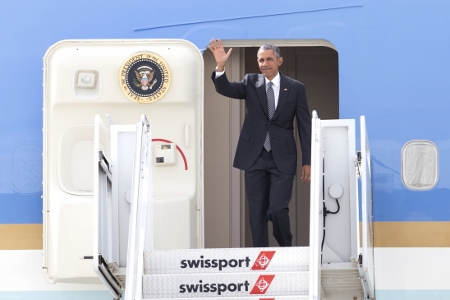 President Obama Arrives in NYC