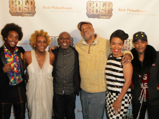 Honorees at the Gold Rush Awards with Danny Simmons_Credit Terrence Jennings