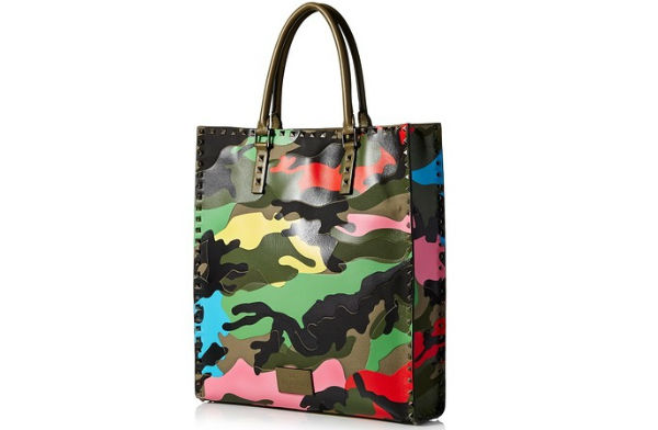 camouflage valentino bag side