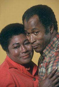 John Amos with co-star, Esther Rolle