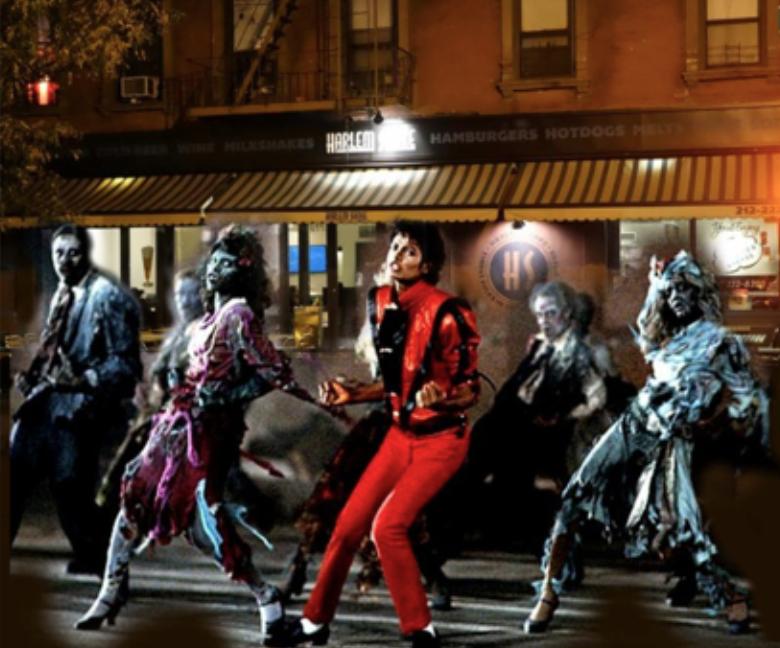 thriller flash mob in harlem