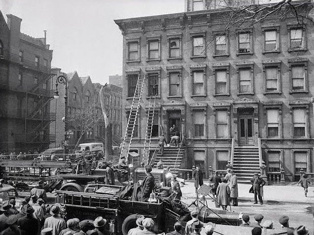 harlem collyer brothers house on fire houe 1947