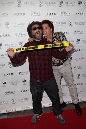 Mr. Brainwash and Romero Britto