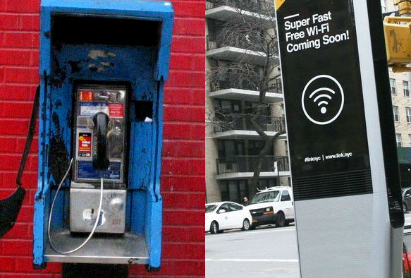 phone booth vs Wi-Fi-kiosk in harlem