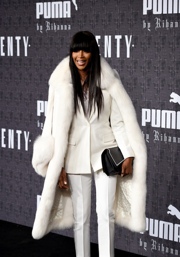 Model Naomi Campbell attends the FENTY PUMA by Rihanna AW16 Collection during Fall 2016 New York Fashion Week