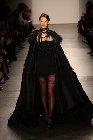 Model in Zang Toi Fall 2016 Fashion Show