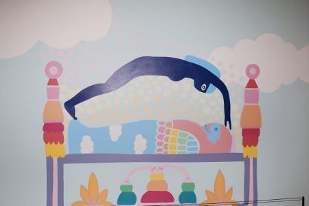 Art of Saya Woolfalk in collaboration with daughter Aya Woolfalk Mitchell Lauren