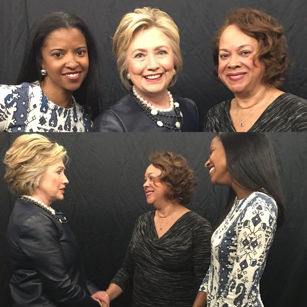 Renee Elise Goldsberry Welcomes Hillary Clinton to Harlem With The National Anthem