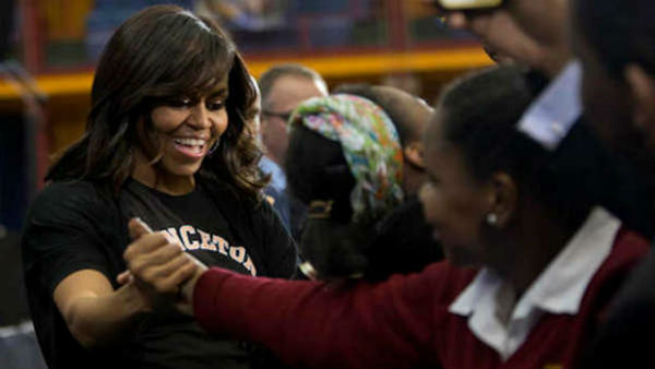 first lady obama in harlem for grads1
