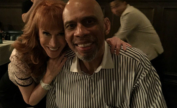 Kareem Abdul-Jabbar and Kathy Griffin