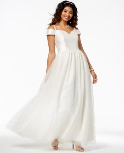 Strapless Orange Prom Dress Macy's