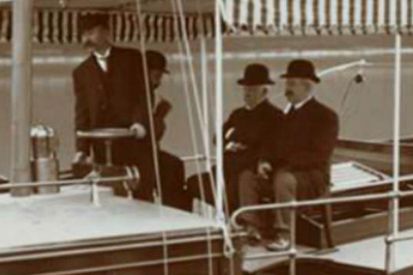 Gentlemen On The Coronet Yacht Harlem River 1905 (Photographs)