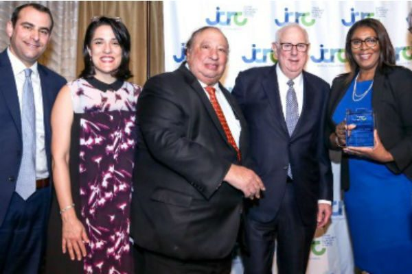 Harlem's Catsimatidis Presents To Letitia James And Charles S. Temel At The JCRC-NY Gala Dinner
