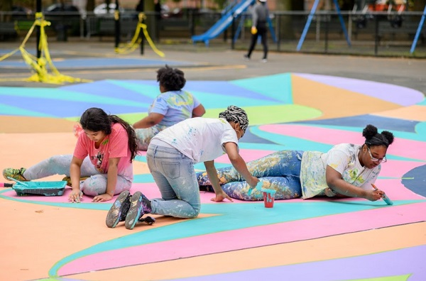 Facebook Nyc Parks And Publicolor Reimagine Marcus Garvey Park Basketball Court Most likely is a fourth option: facebook nyc parks and publicolor